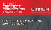 Best Content Marketing Award - Finance 2018