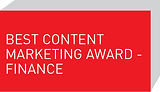 Best Content Marketing Award - Finance