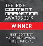 Best Content Marketing Award - International