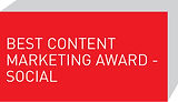 Best Content Marketing Award - Social
