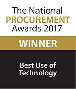 Best Use of Technology 2017 winner logo
