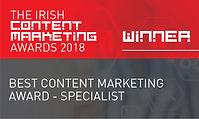 Best Content Marketing Award - Specialist 2018