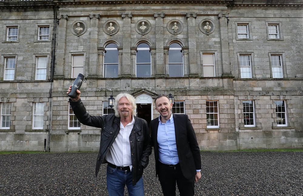 Norman Crowley and Sir Richard Branson at the Cool Planet Experience launch