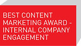 Best Content Marketing Award - Internal Company Engagement