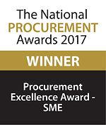 Procurement Excellence Award - SME 2017 winner logo
