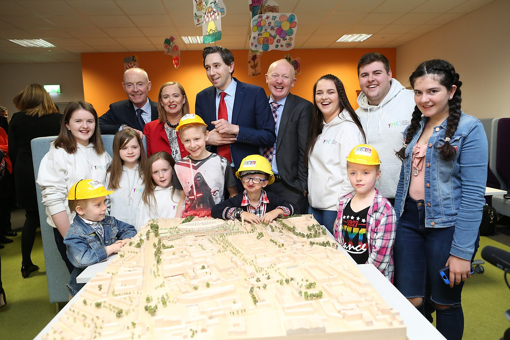 Tom Costello with the new Children's Hospital development plans