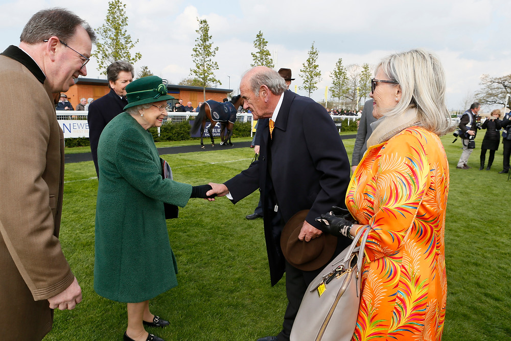 Queen Elizabeth II greets Colm