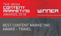 Best Content Marketing Award - Travel 2018