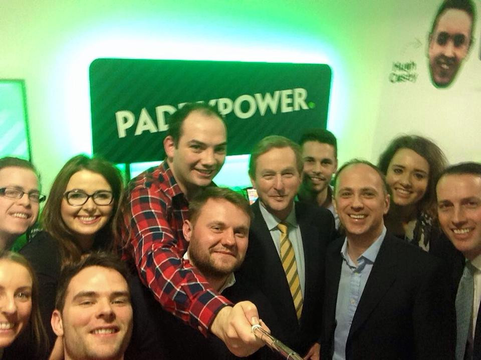 Paddy Power Team selfie with Enda Kenny