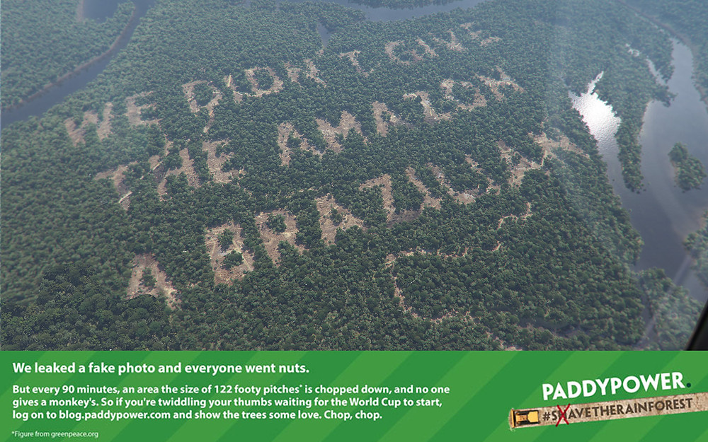 Paddy Power Deforestation Campaign