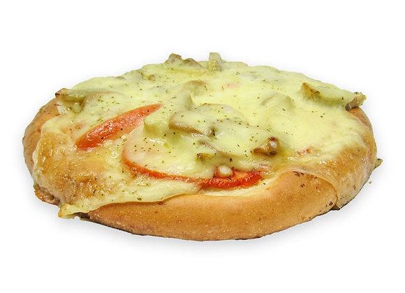 Pizza de Champiñones con Alcachofas