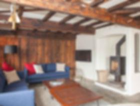 Log burner an sofas