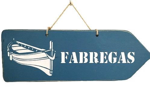 PANCARTE FLECHE Fabregas