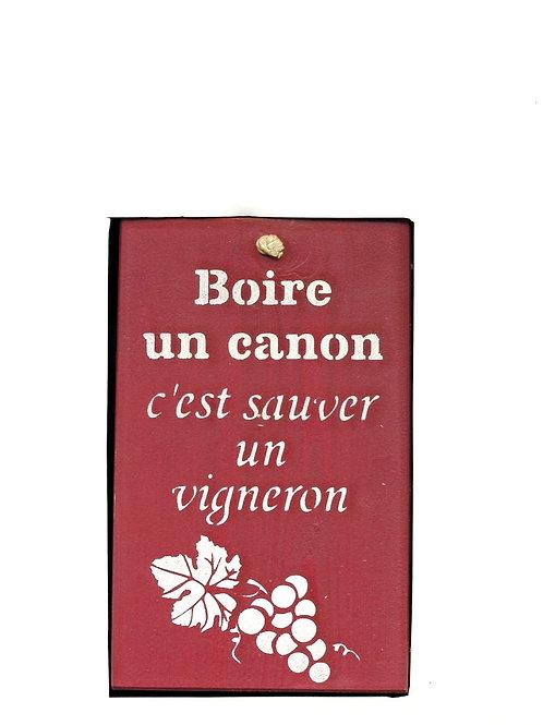 PANCARTE DÉCO en bois vigneron