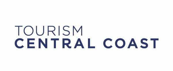 Tourism Central Coast with white border.