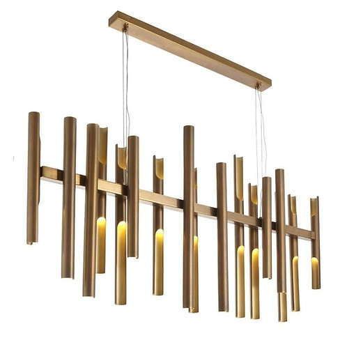 RV Astley long flute chandelier
