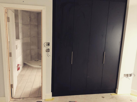 Wardrobes and Bathrooms going in!