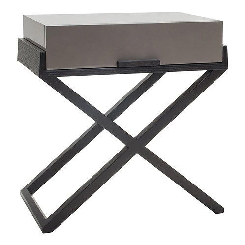 Liang and Eimil Boston Gloss Taupe Bedside Table