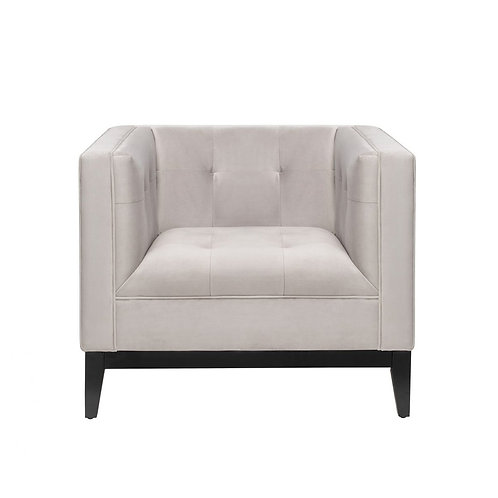 Liang and Eimil Joel Occasional Chair in Fog Grey Chenile