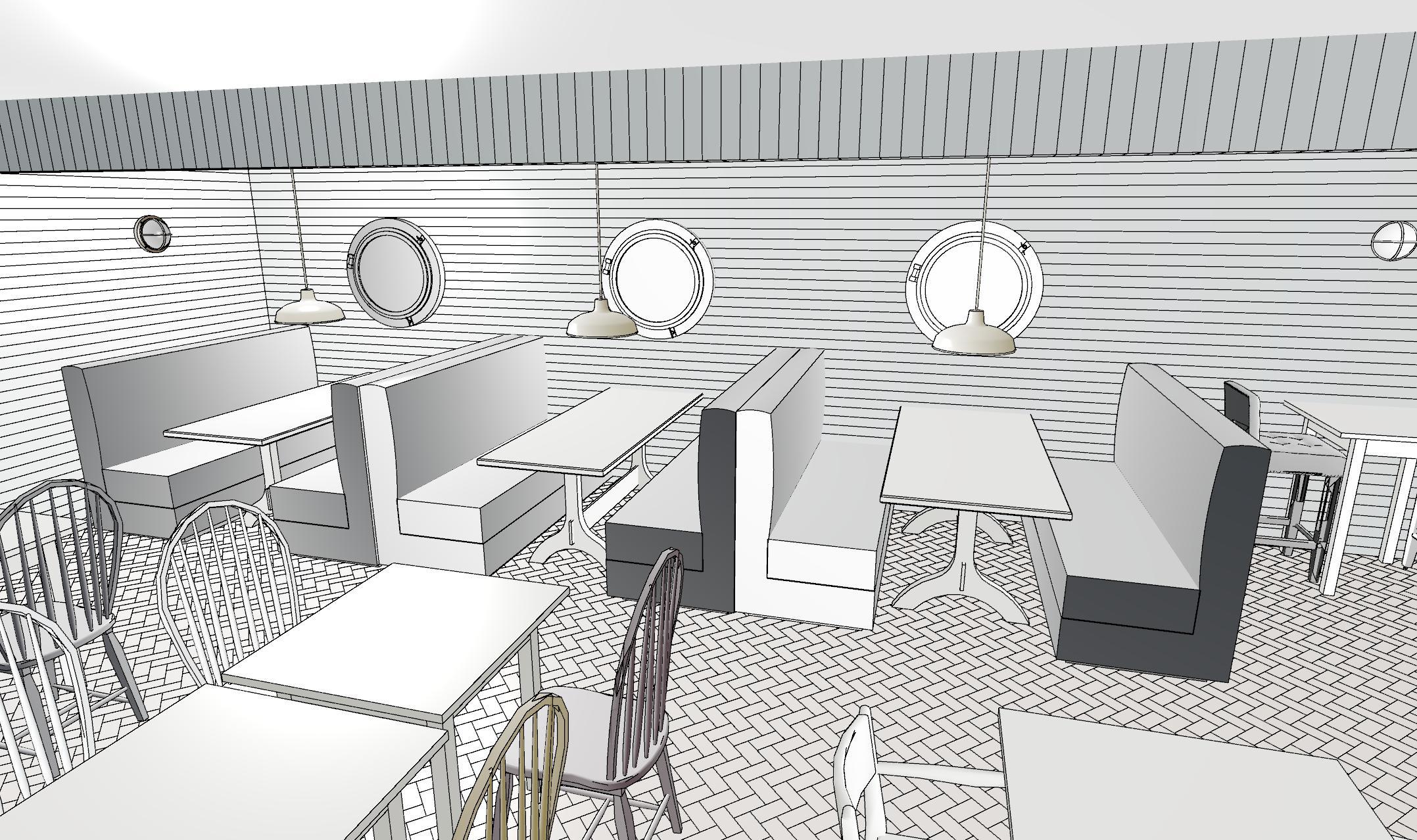 3D Design for restaurant