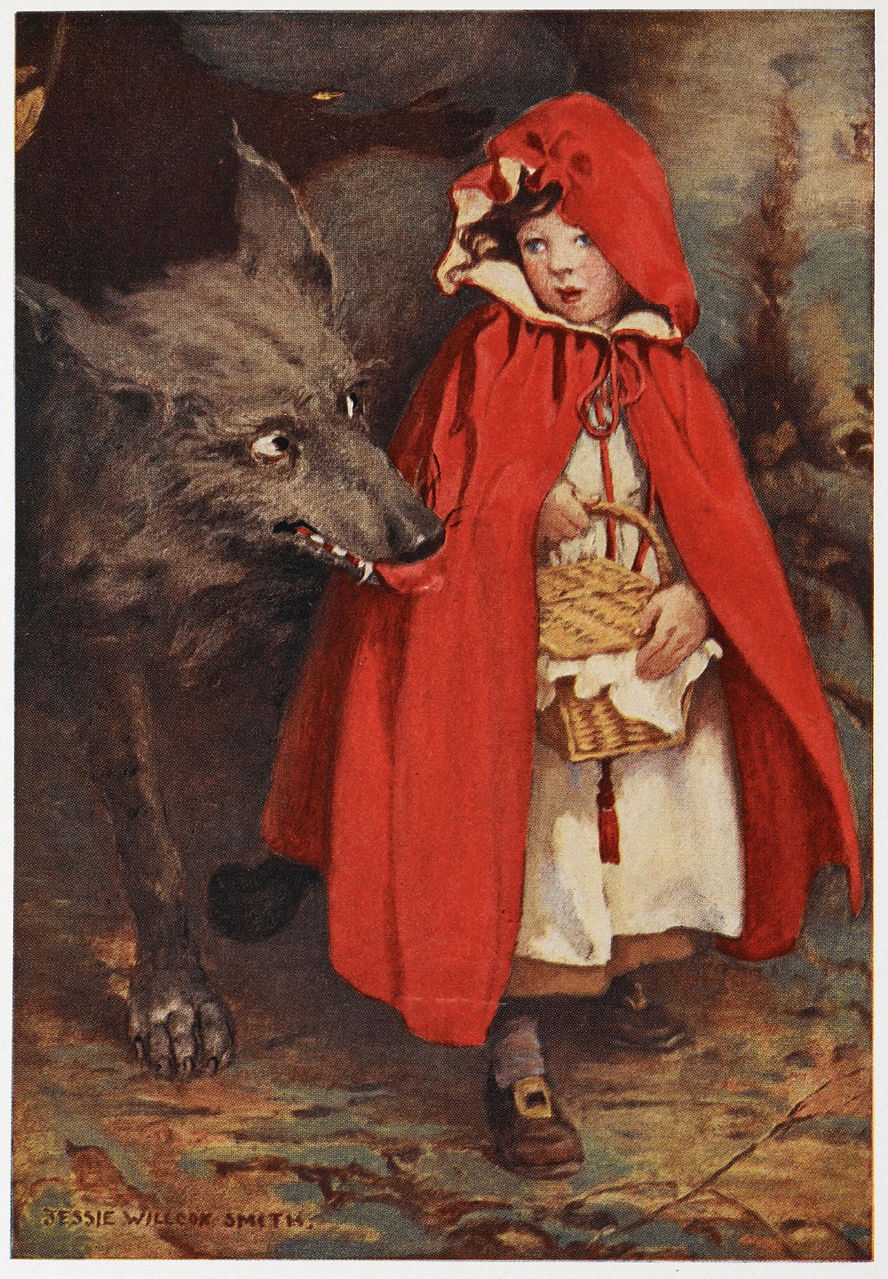 Jessie Willcox Smith, Little Red Riding Hood, A Child's Book of Stories (1911). Courtesy: Wikimedia Commons