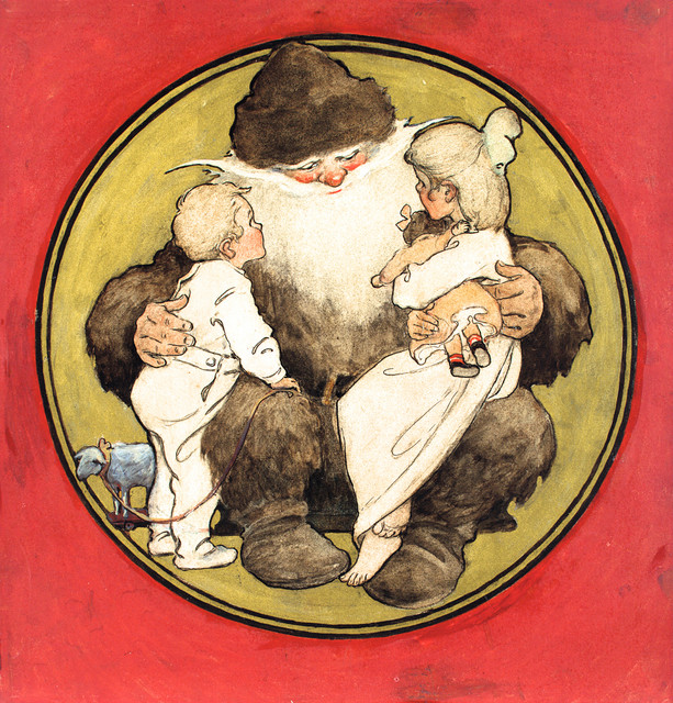 Jessie Willcox Smith, T'was the Night Before Christmas (1912). Courtesy: Artsy