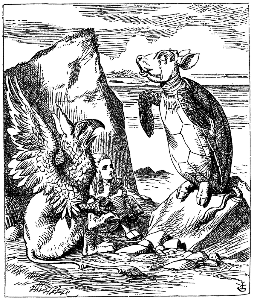 John Tenniel, The Lobster Quadrille (1865). Courtesy: From Old Books