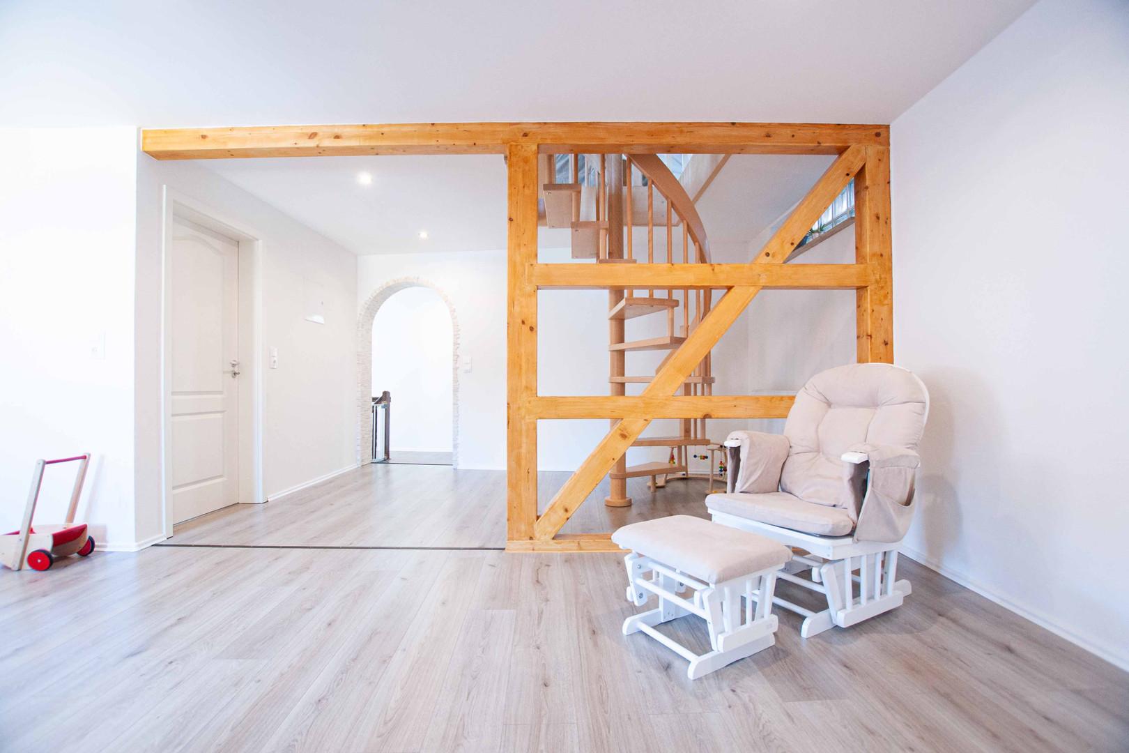 Zugang zum Dachgeschoss