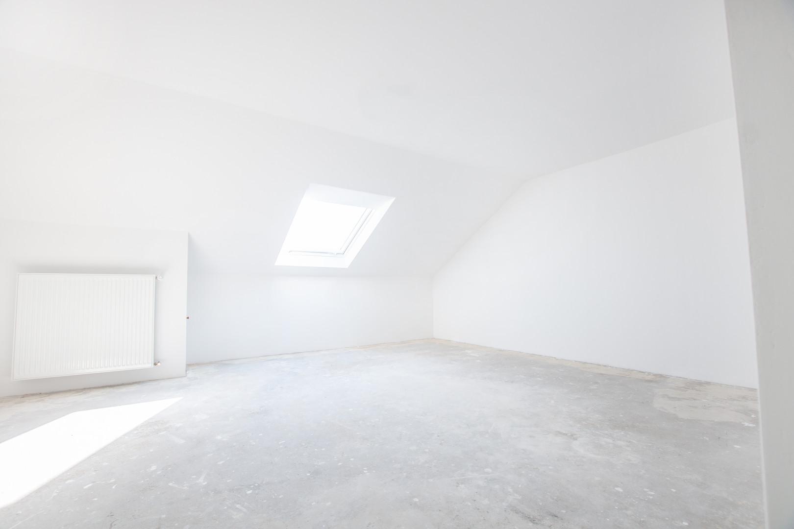 Schlafzimmer der Wohnung im Dachgeschoss