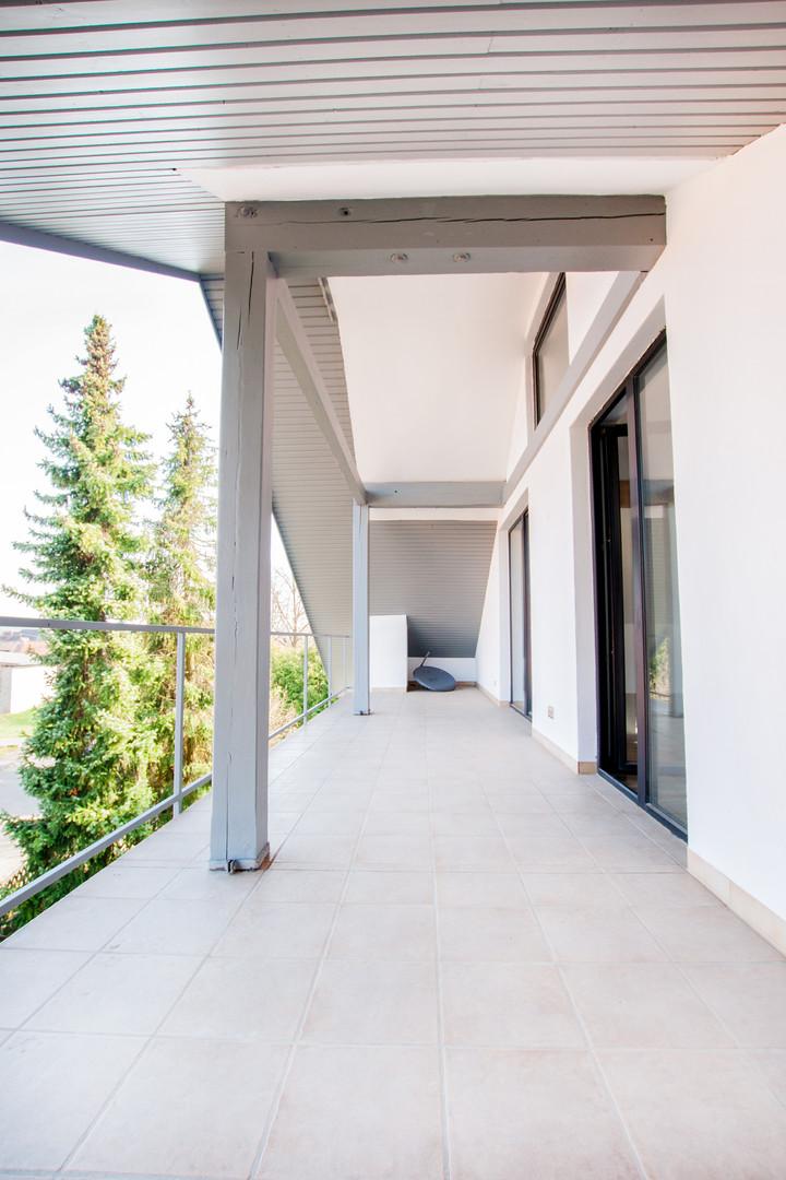 Balkon der Wohnung im Dachgeschoss