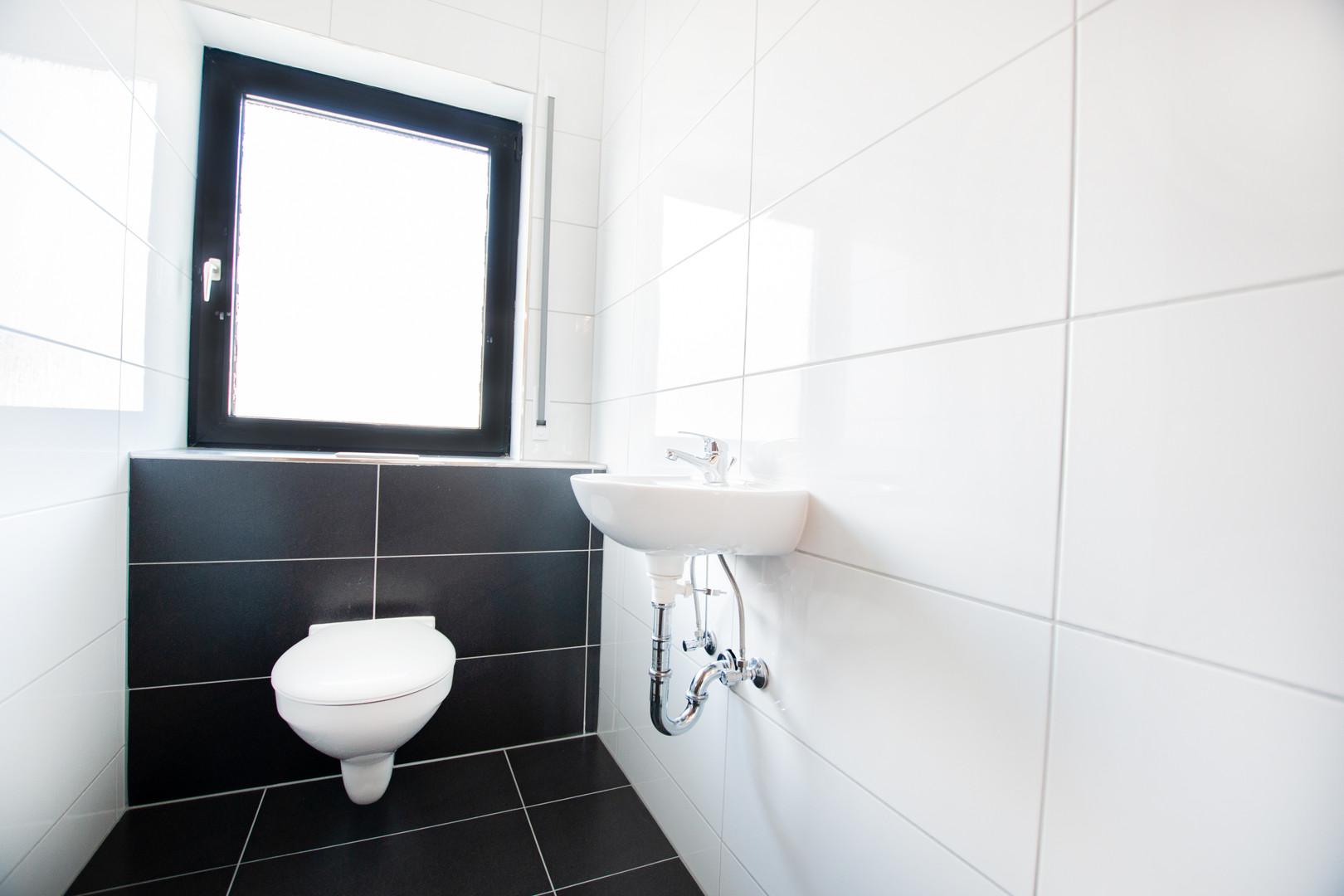 Gäste-WC der Wohnung im Erdgeschoss