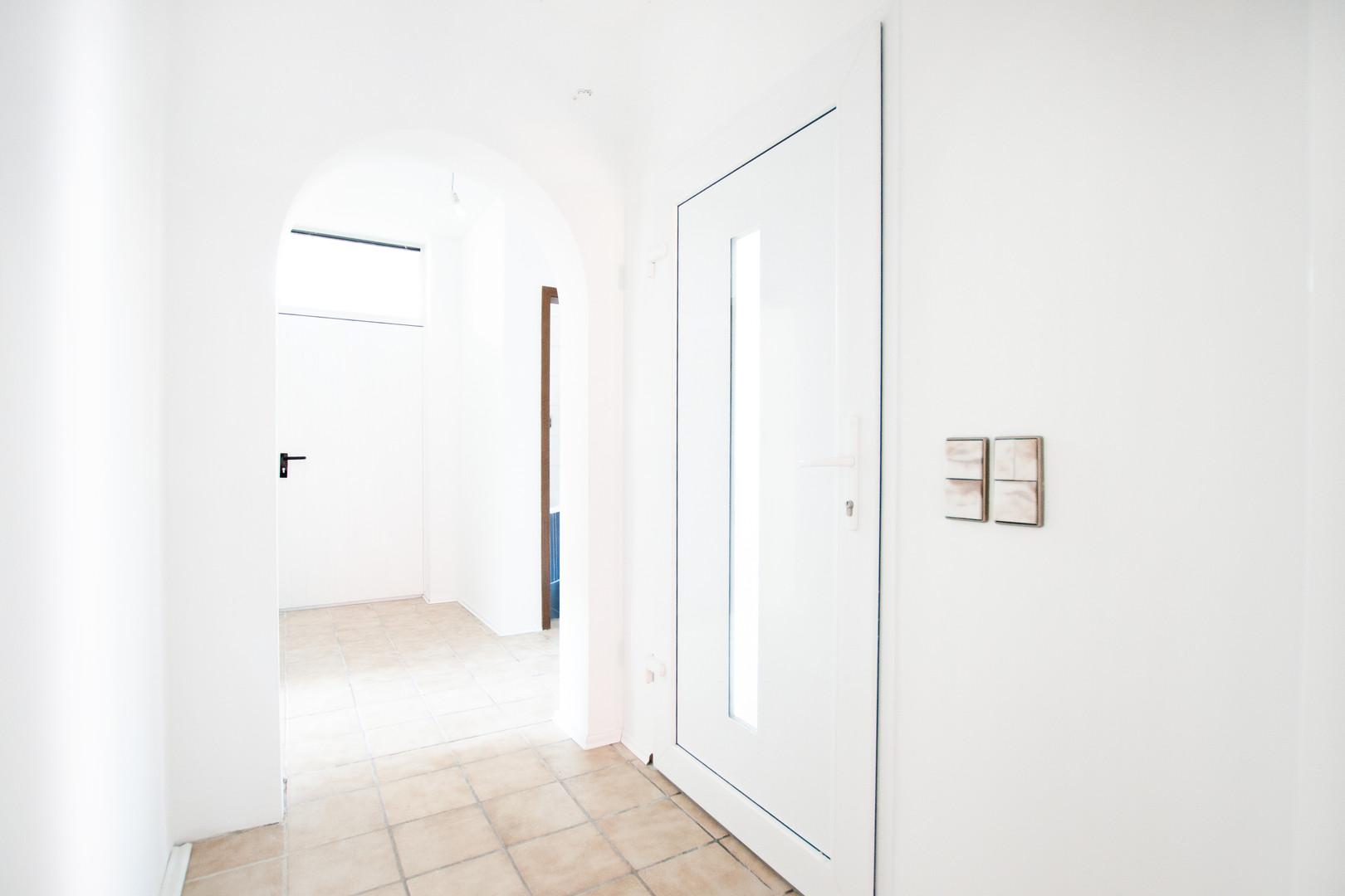 Eingang der Wohnung im Erdgeschoss