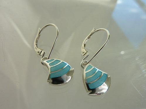 Sailing boat earrings with enamel