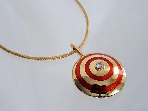 Necklace in oranga enamel