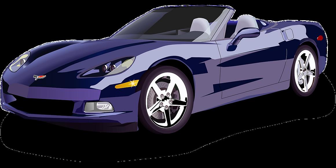 Blue Corvette Shiny