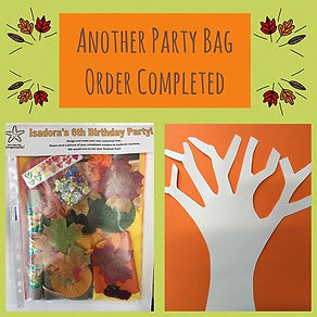Our party bags are made to order with th
