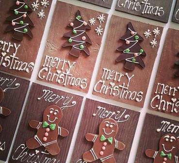 chocolate christmas cards
