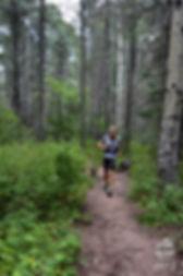 Mountain running on single track