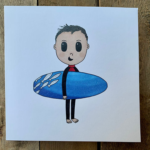 Ocean Surfer Card