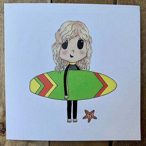 Starfish Surfer Card