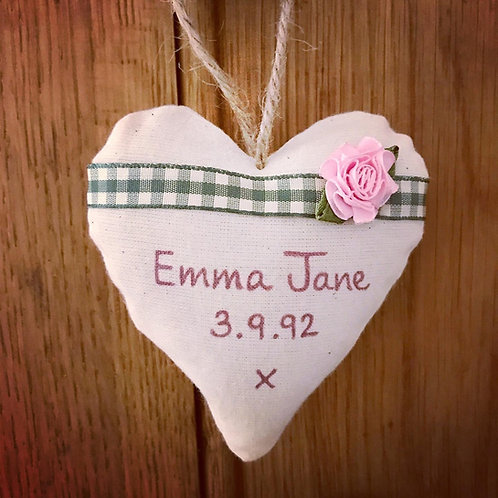Personalised Rose Hearts