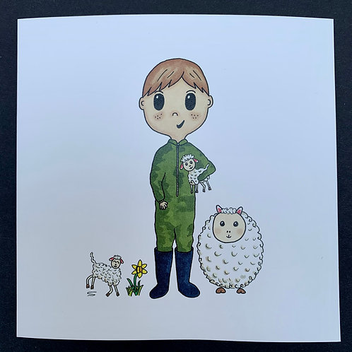 Lamb Boy Card