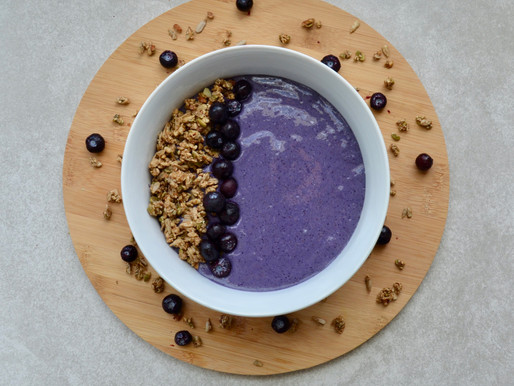 Blueberry Oat Smoothie Bowl