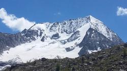 Il ghiacciaio Hockgall in tutta la sua grandezza