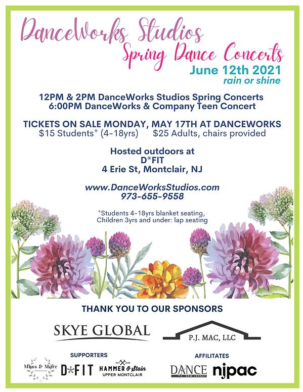 DanceWorks Summer Dance Concerts 2021 (2