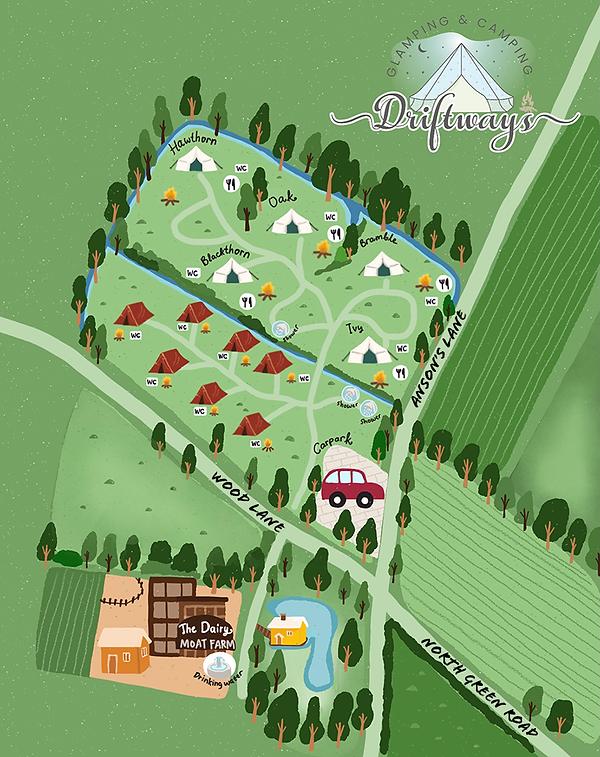 Driftways Site Map