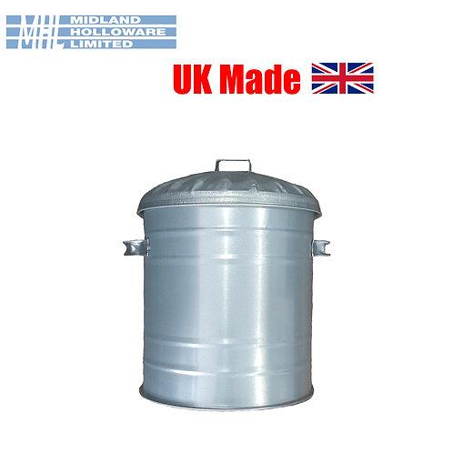 Galvanised Mini Bin 15Litre Small Dustbin Rubbish Waste Storage