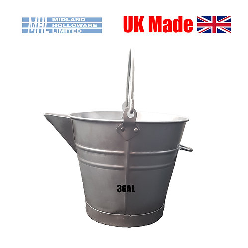 Galvanised 3 Gallon V Lip Tar Bucket
