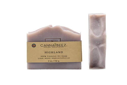 Highland: Citrus + Woods + Brazilian Purple Clay Soap