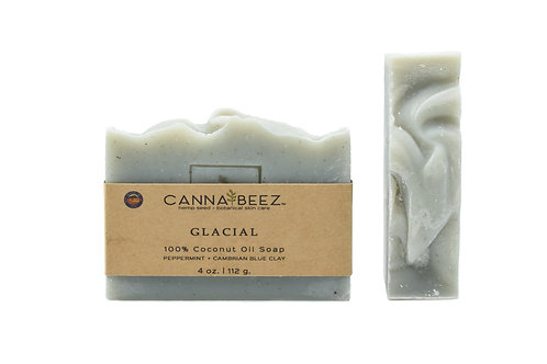 Glacial: Peppermint + Cambrian Blue Clay Soap
